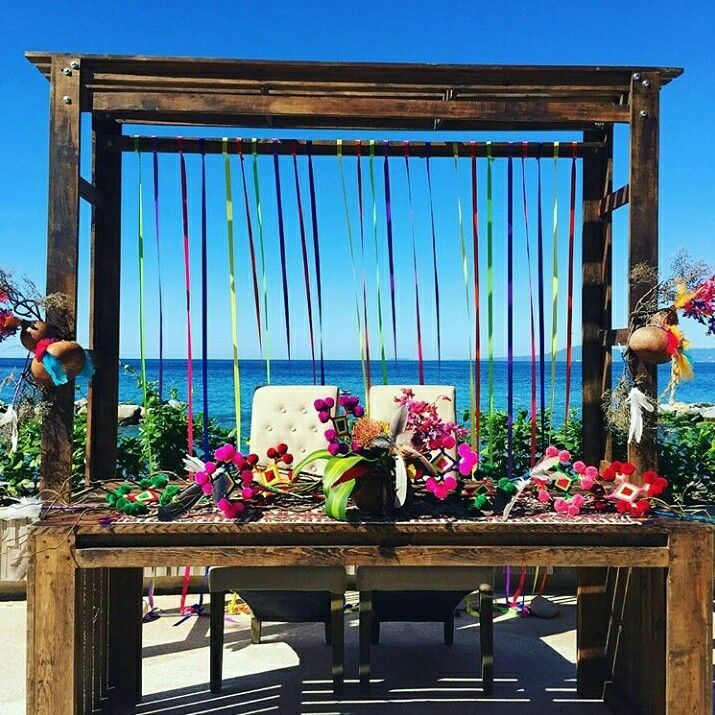Huichol Wedding At The Hotel Grand Fiesta Americana Puerto Vallarta    Wedding Furniture By Mobva Mexican