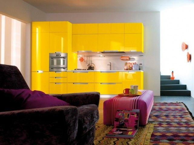 cuisine jaune laque | deco | pinterest | jaune, cuisine jaune et laque