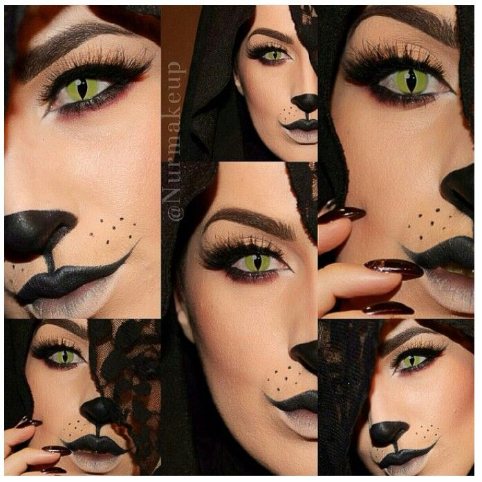cute cat makeup tutorial 1000 ideas about cat halloween makeup on pinterest - Cat Eyes Makeup For Halloween