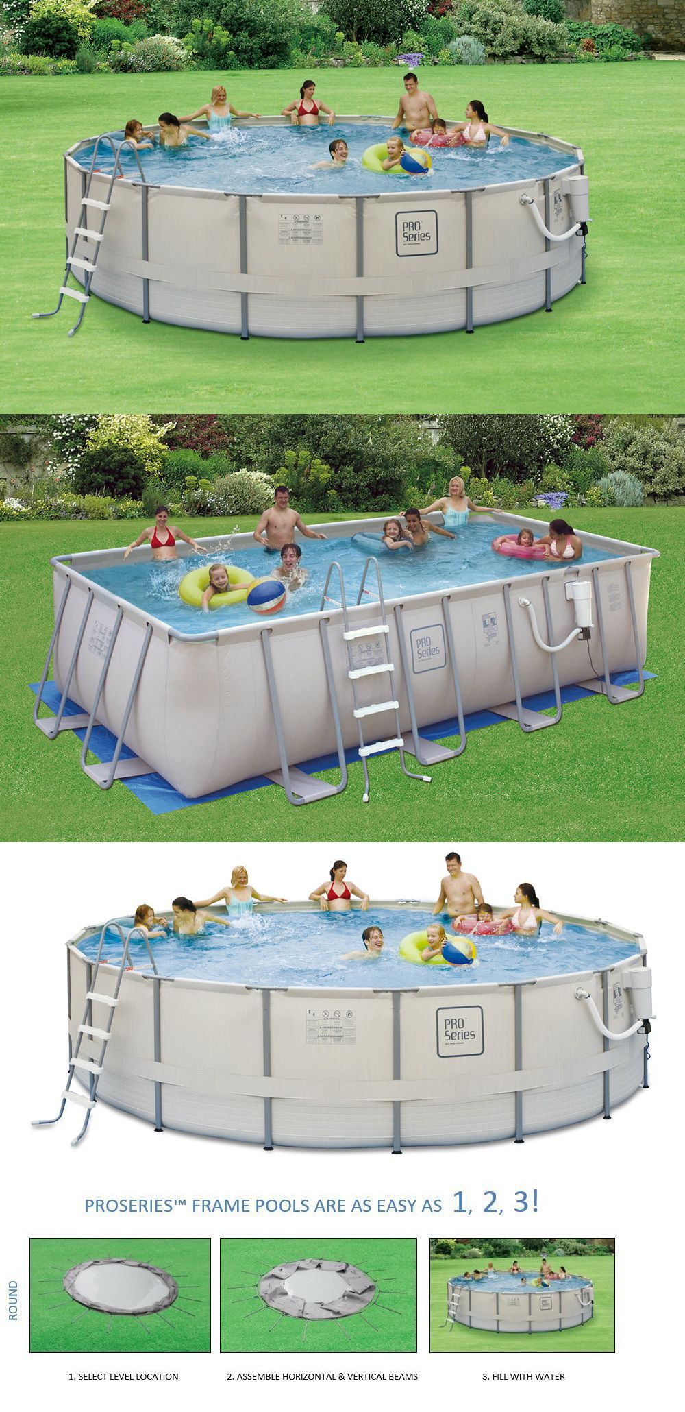 Lovely Above Ground Pools 116405: Pro Series Soft Sided Metal Frame Above Ground  Swimming Pool Packages  U003e BUY IT NOW ONLY: $765.9 On #eBay #pools #series  #sided ...