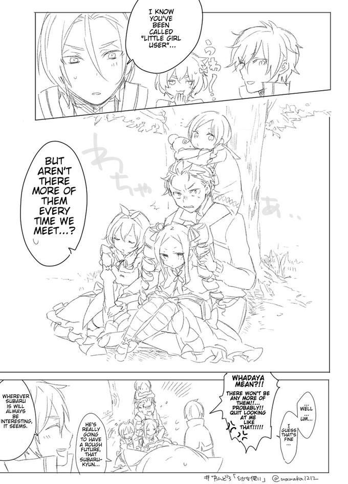 Subaru's prowess in atracting lolis to his side   Re:Zero ‒Starting Life in Another World‒