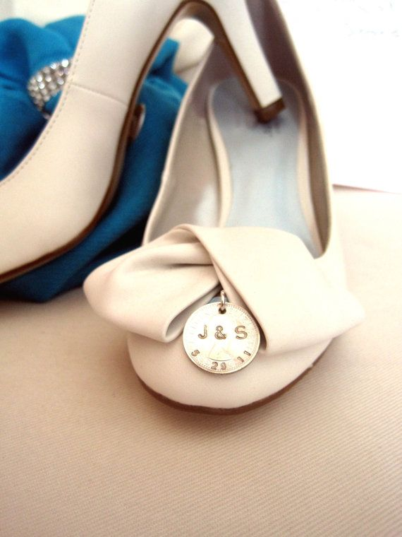 A silver sixpence for your shoe... such a lovely idea