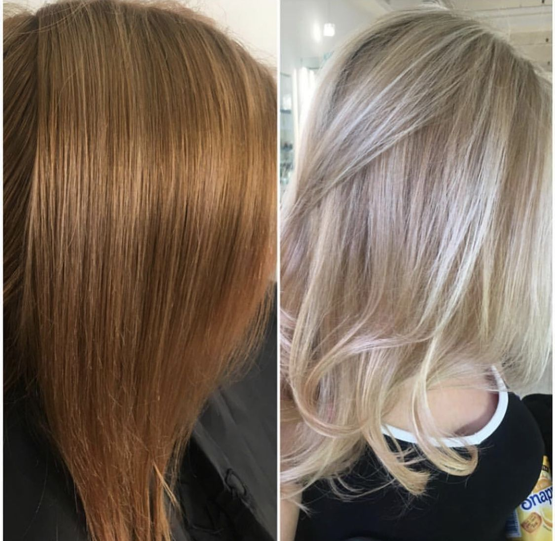 Makeover Box Dyed And Brassy To Bright Blonde Box Hair Dye Blonde Box Dye Bright Blonde