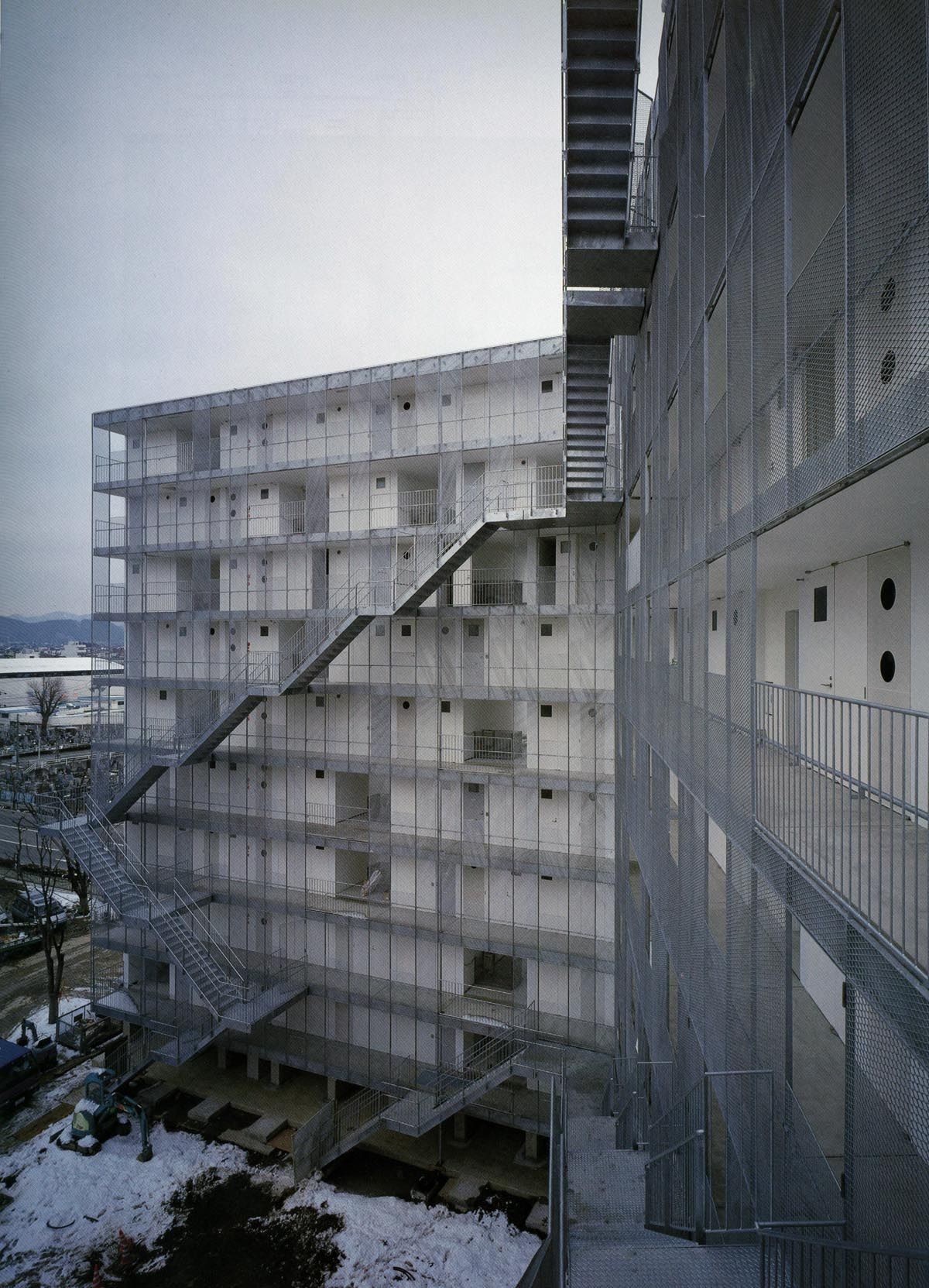 Just A Selection Kazuyo Sejima Gifu Kitagata Apartment Building Sanaa Trap Trappen Gaan Facade Architecture Structure Architecture Stairs Architecture