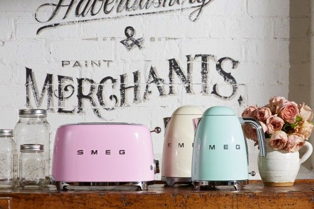 SMEG bench top appliances get a candy-coloured makeover - The Interiors Addict