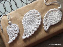 Photo of Crochet angel wings / Christmas tree decorations