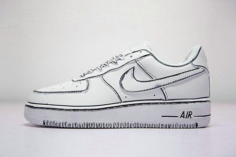 Joshua Vides X Bajos Nike Air Force 1 Bajos X Pintados A Mano Blanco Personalizado 2be293