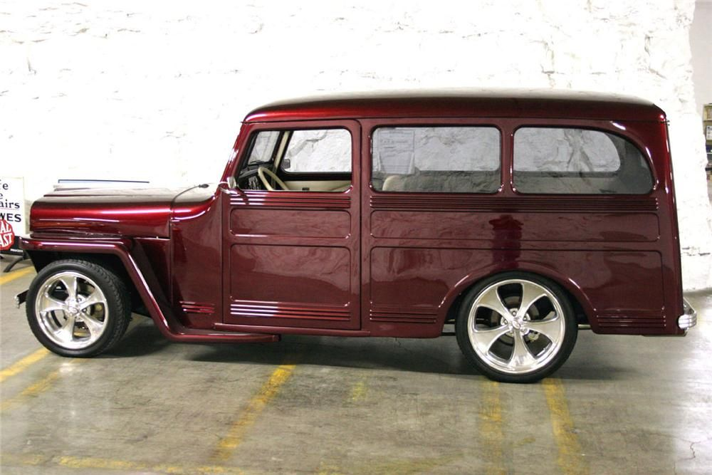 1946 WILLYS OVERLAND CUSTOM WAGON - Side Profile - 49550
