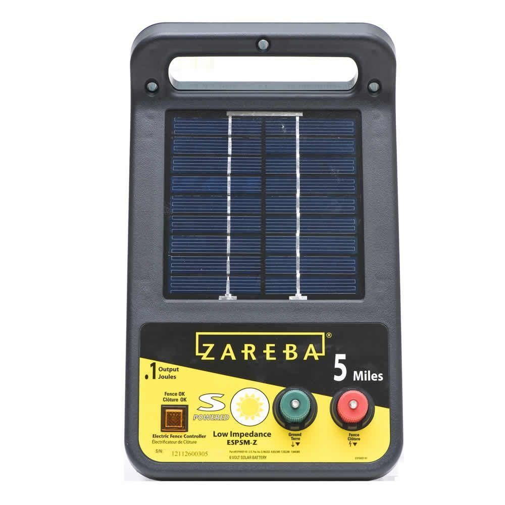 Zareba Solar Energizer 0 1 Joule Esp5m Z The Home Depot Solar Electric Fence Solar Electric Electric Fence
