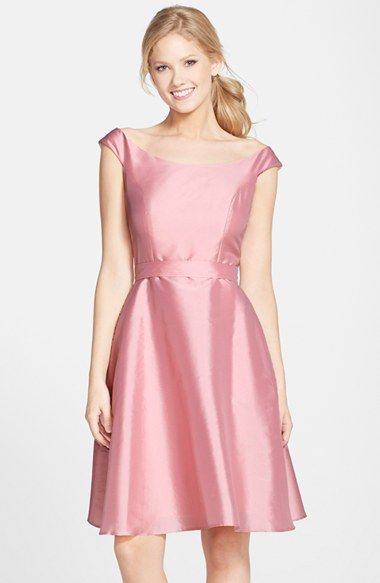 03f2ca2a9c4 Alfred Sung Dupioni Fit   Flare Dress available at  Nordstrom in Midnight