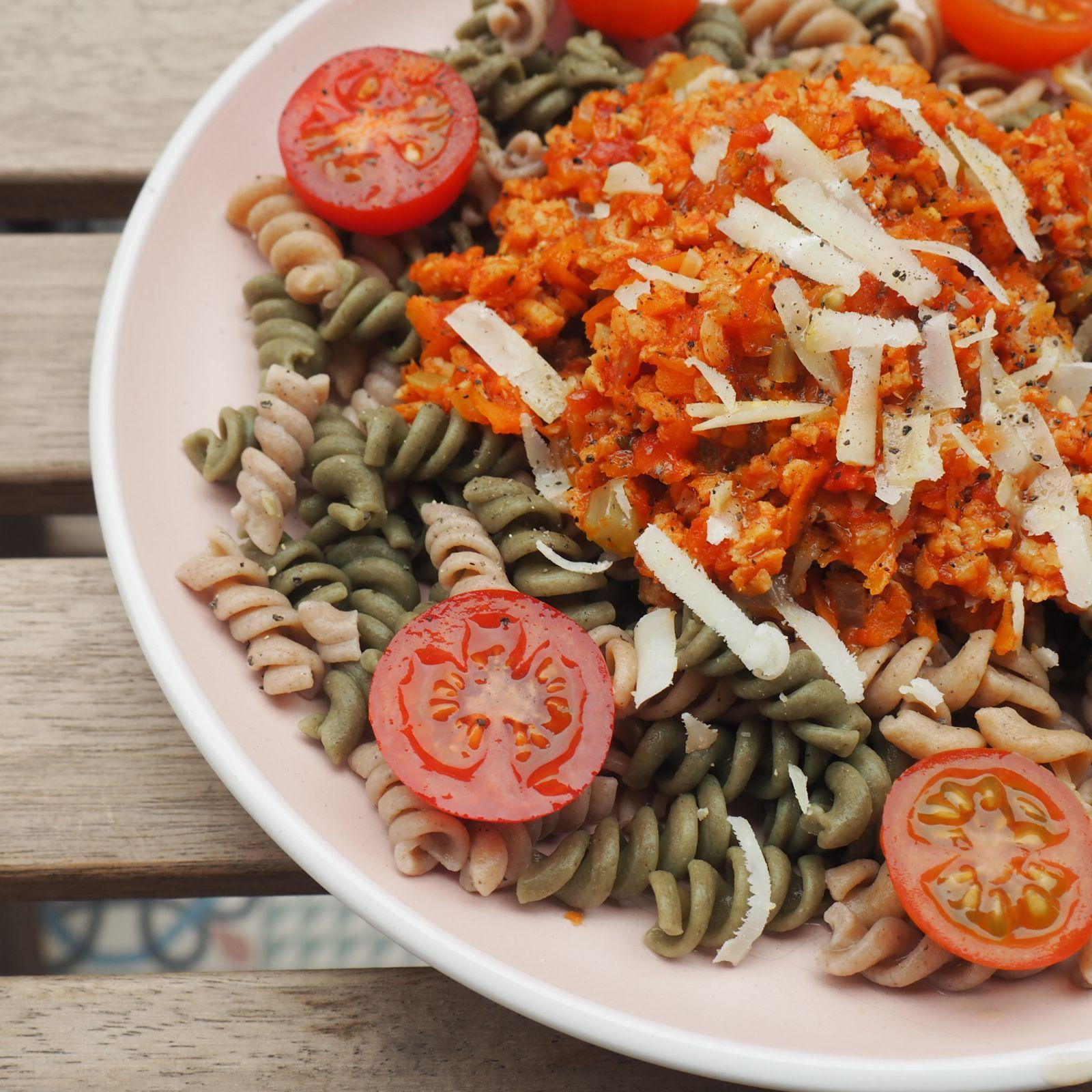 receta boloñesa vegetariana