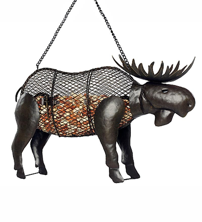 The Moose Bird Feeder Is A Great Piece Of Rustic Outdoor Decor That Looks In Any Garden