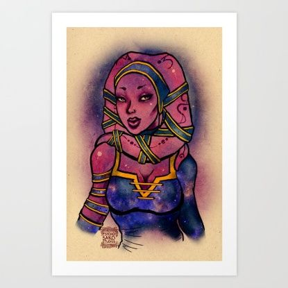 Buy Star Wars Twilek: Joia Lien Art Print by Sako Tumi. Worldwide shipping available at Society6.com. Just one of millions of high quality products available.