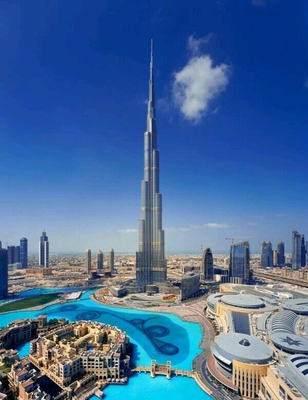 """El """"Burj Khalifa"""" 828m."""