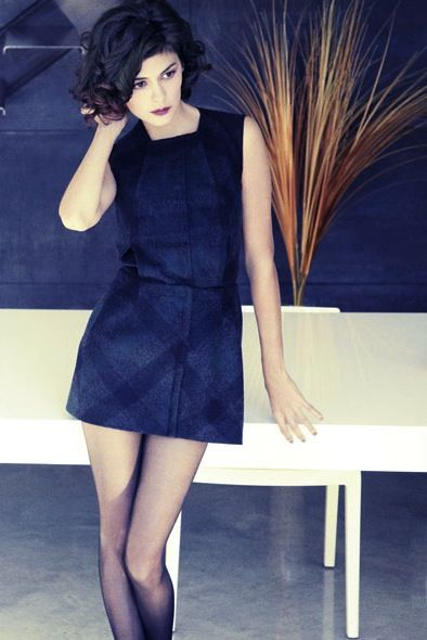 Audrey Tautou by Marcus Mam perfect slip of a dress