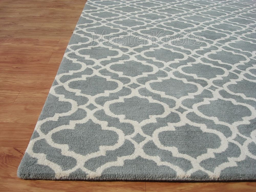New Riyana Scroll Porcelain Blue 8x10 10x8 Handmade Wool Area Rug Carpet RC  EHS #Contemporary