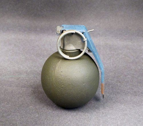 U S  WWII Baseball Grenade: Inert by International Military