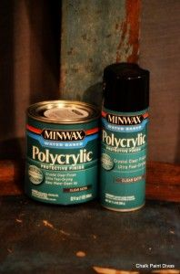 Can you use Polycrylic over AS Chalk Paint? Yes! If not using wax for some reason, you can use Polycrylic over the chalk paint.