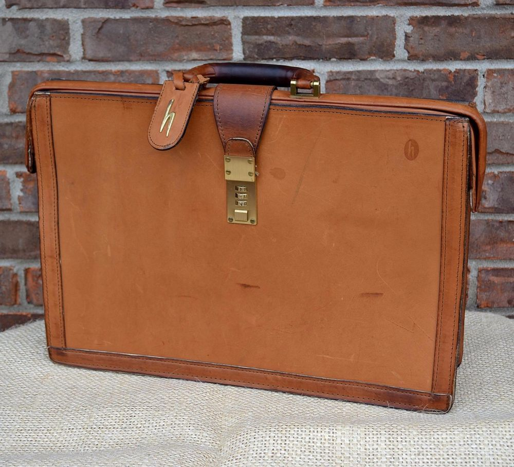 Hartmann Brown Belting Leather Lawyer Briefcase Professional ...