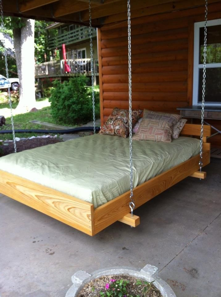 Cypress wood frame, cedar bed slats, all lovingly attached ...