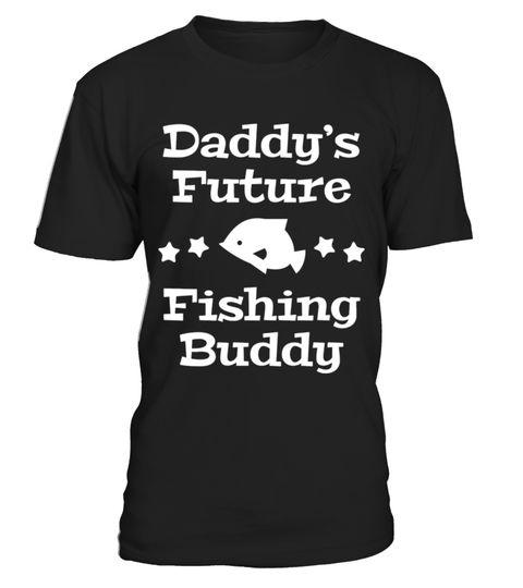 Daddy's Future Fishing Buddy T-shirt Personalised Tees Clothing Unisex White