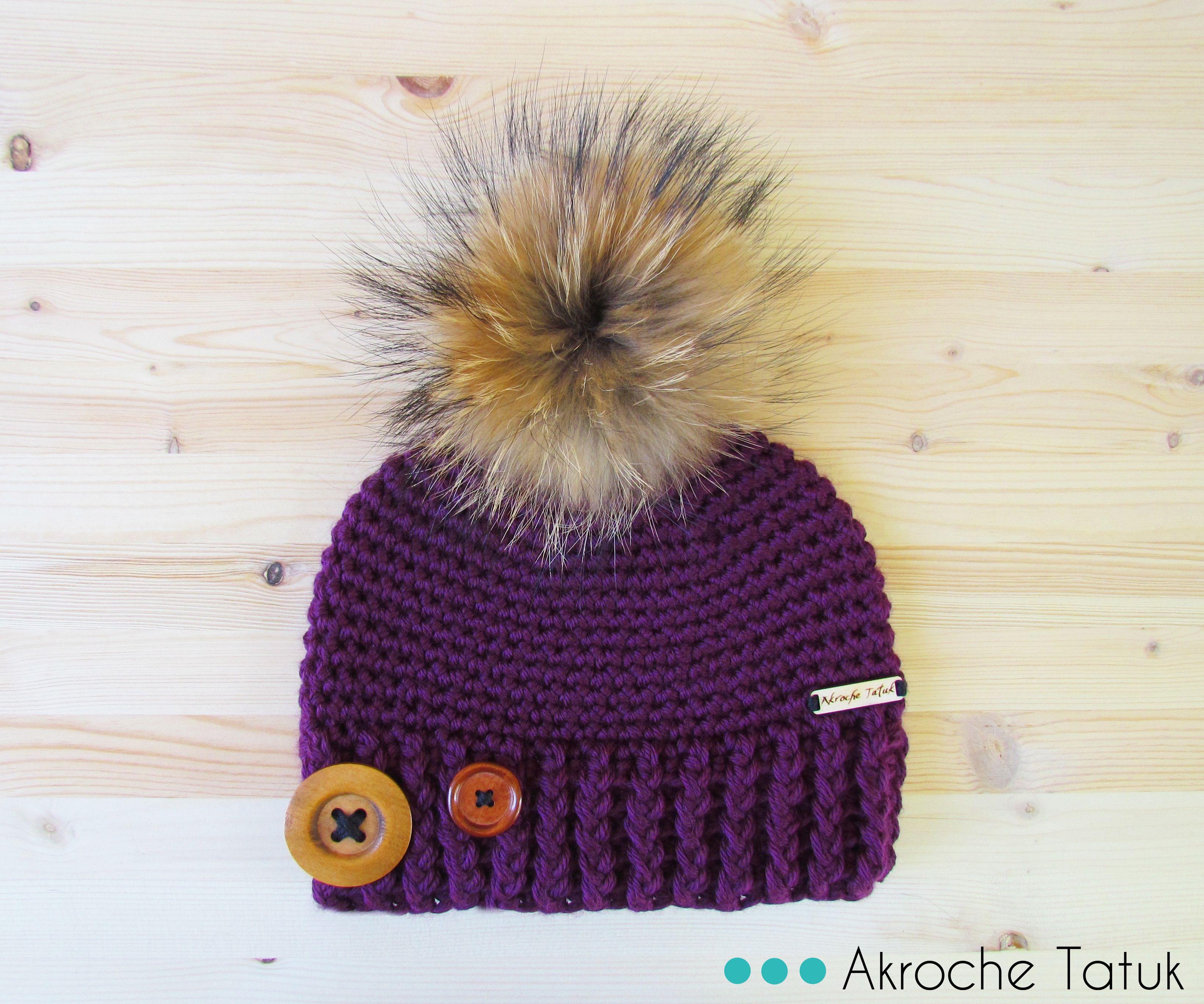 Tuque patron au crochet Crochet hat pattern | bonnet | Pinterest ...