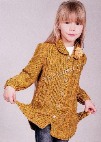 теплая кофта для девочки фото صوف اطفال вязание детское