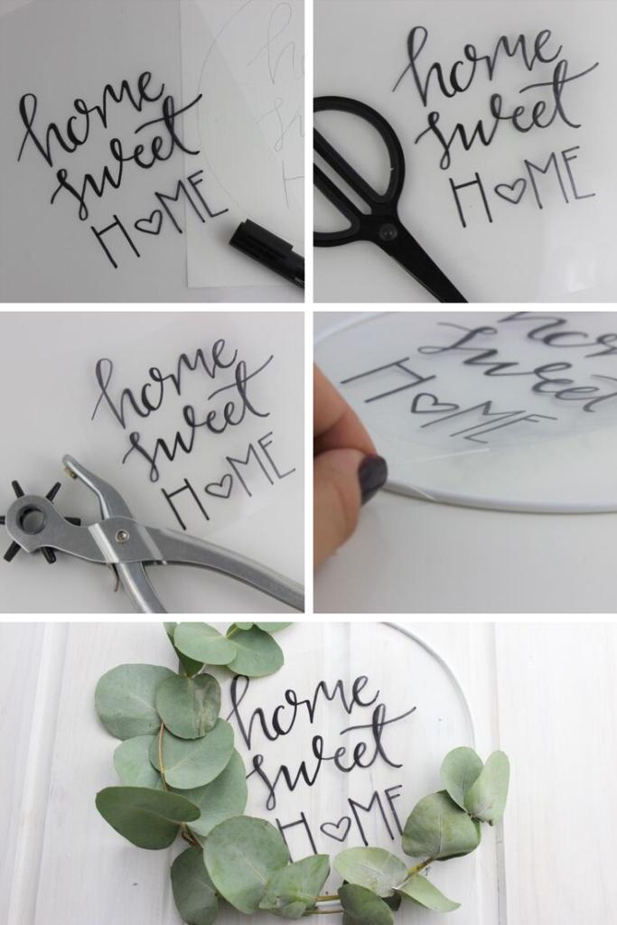 Photo of Schritt für Schritt zum DIY Türkranz mit Lettering