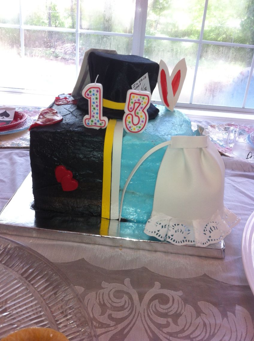 Alice in wonderland cake she wanted a good vs evil