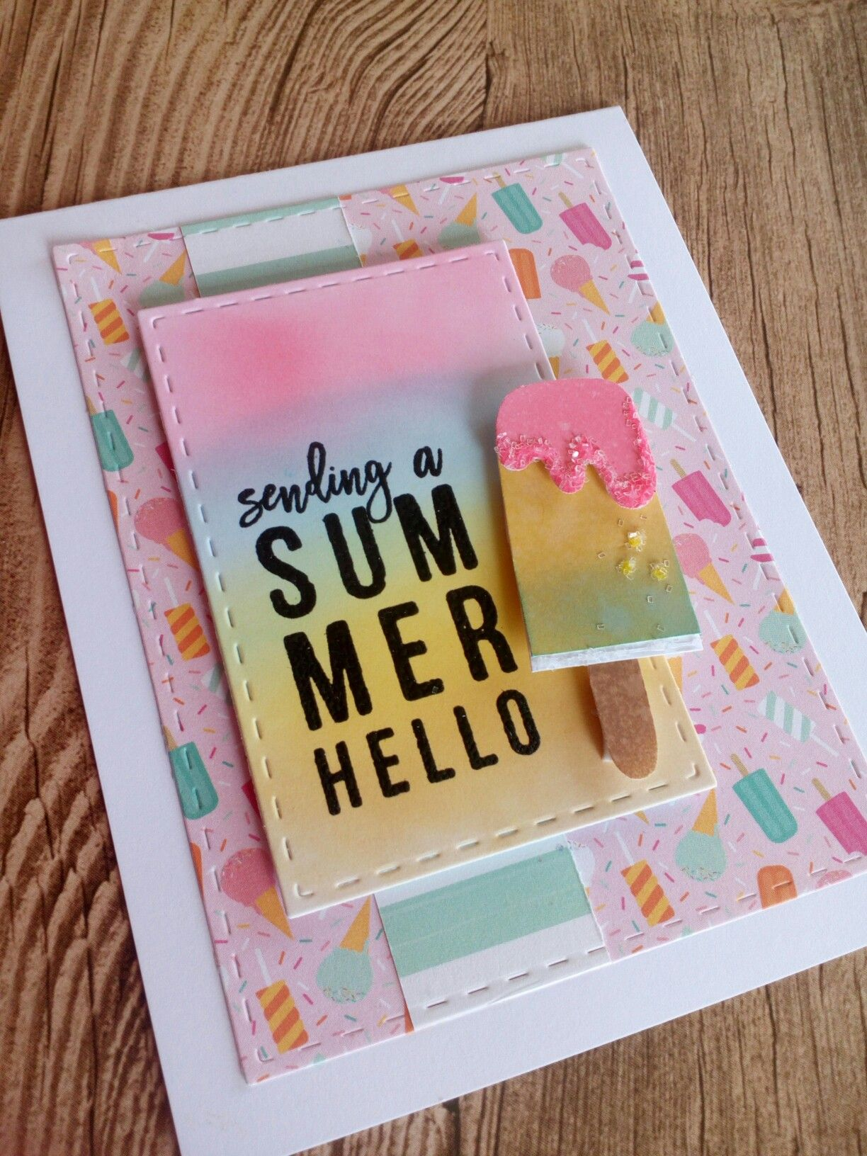 10 Cards 1 Kit Summer Hello SSS July Card Kit 2017 Cu0026CT