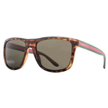 44ebe88d6bc Gucci GG 1118 S M15 70 Havana Green Red Wayfarer Men s Sunglasses - Walmart .com