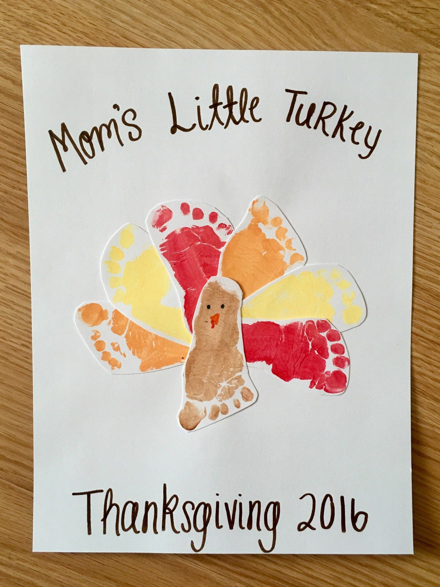 Diy Thanksgiving Footprint Art Crafts Remember Baby S First