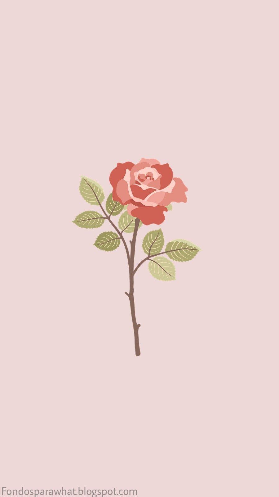 Iphonewallpapers Aesthetic Pastel Wallpaper Rose Wallpaper Art Wallpaper Aesthetic cartoon rose wallpaper