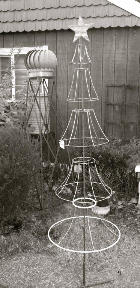 Christmas Tree Lamp Shade Frame Google Search Xtrees