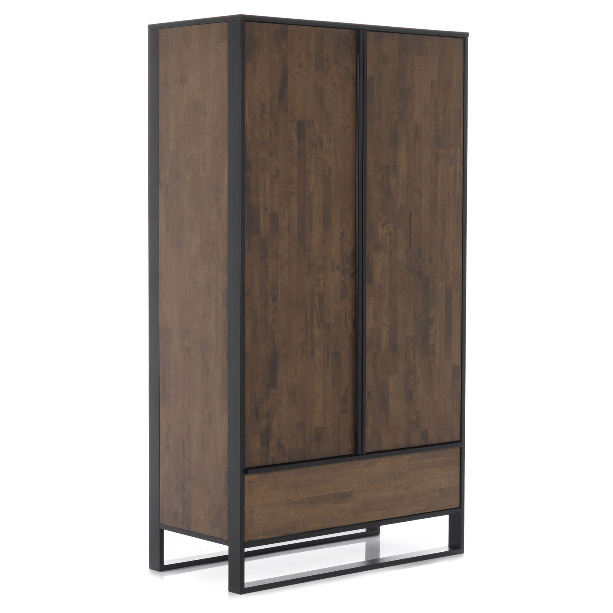 Armoire 2 portes et 1 tiroir en hévéa Spirit - Les armoires et ...