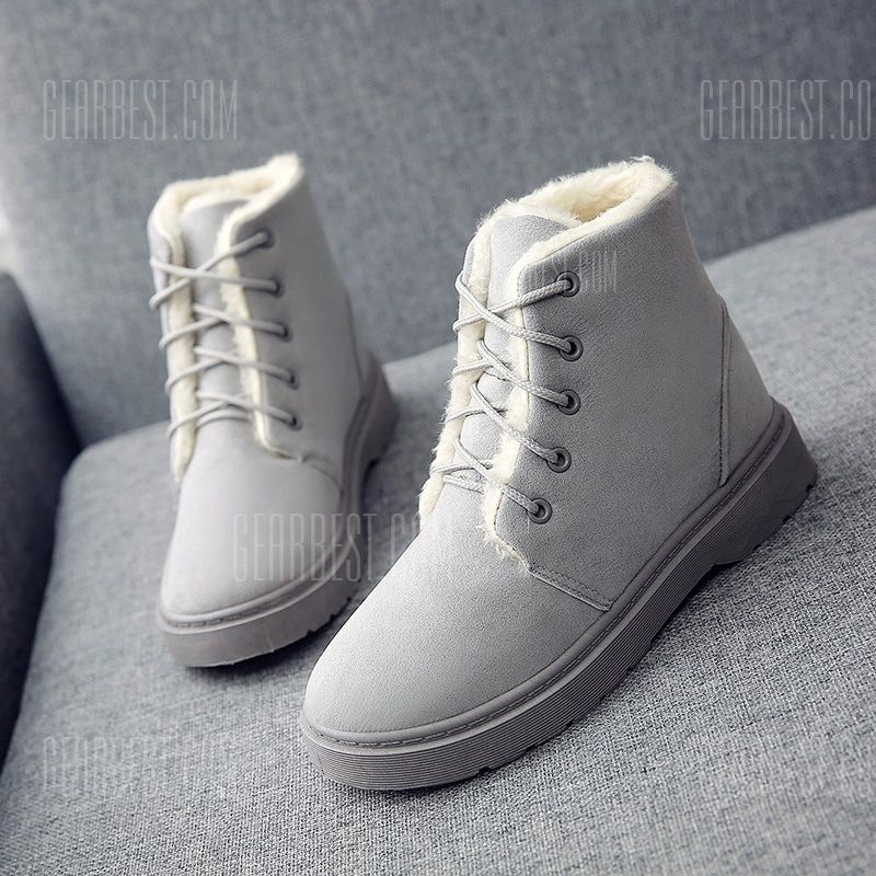 Women Platform Chunky Wedge Sneaker Boot Front Zip Warm Comfort Plush Casual Winter Ankle Snow Boots
