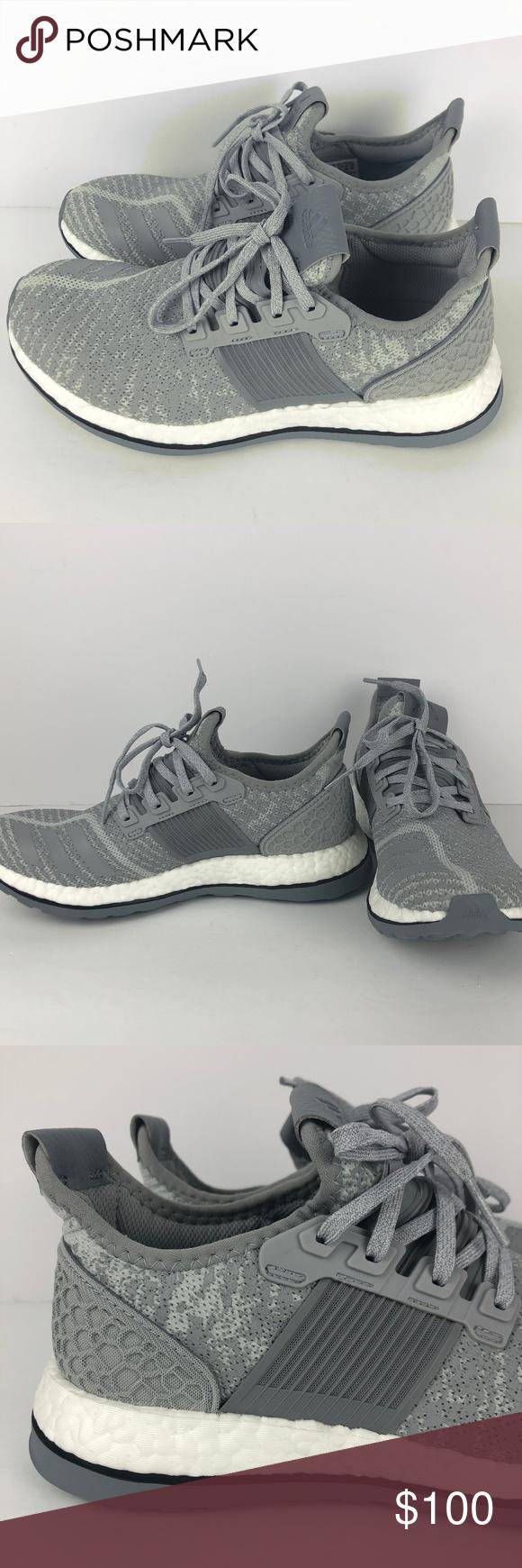 358994fb55762 Adidas Pure Boost ZG Grey White Training Running Item  NEW Adidas Pure  Boost ZG Grey