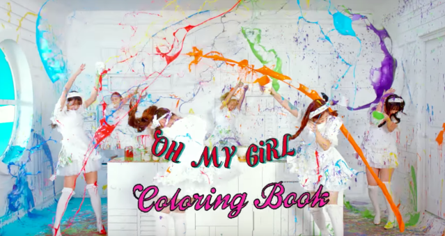 In The First Music Video Teaser For Oh My Girls Upcoming Title Song Coloring Book Could Be Seen A Plain White World With No Color At All