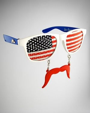 92c04a752b07 American Flag Lens Sunstache Glasses.  YouDontShopYouHunt  presidentsday   weirdstuff