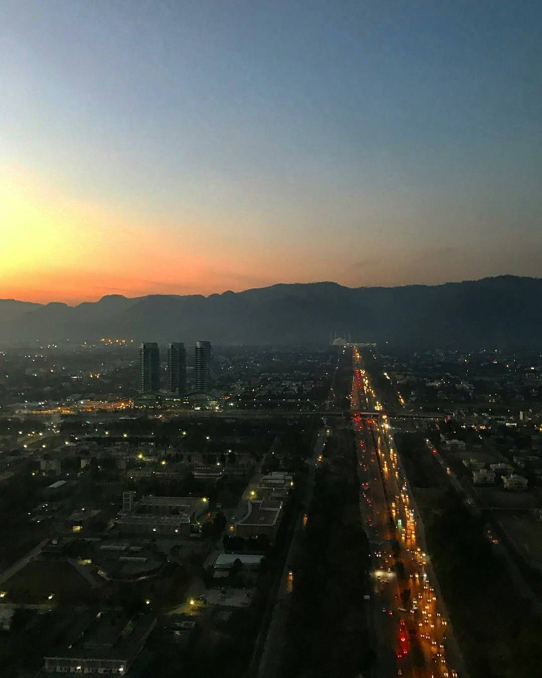 Beautiful Islamabad: The Beautiful Islamabad At Sunset. Photo: The Dragon Flyer