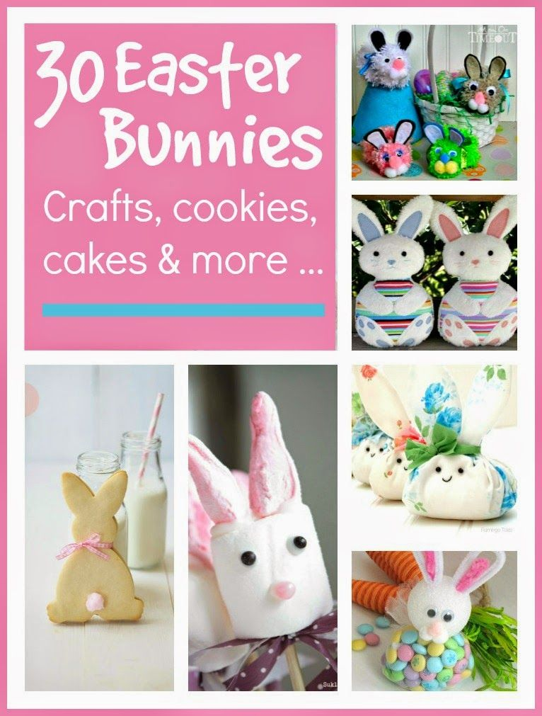 Easter bunny crafts cakes and cookies bunny crafts easter bunny we put together a big list of over 30 easter bunny crafts ideas for you to make at home it includes soft toys soft furnishings cakes cookies negle Images
