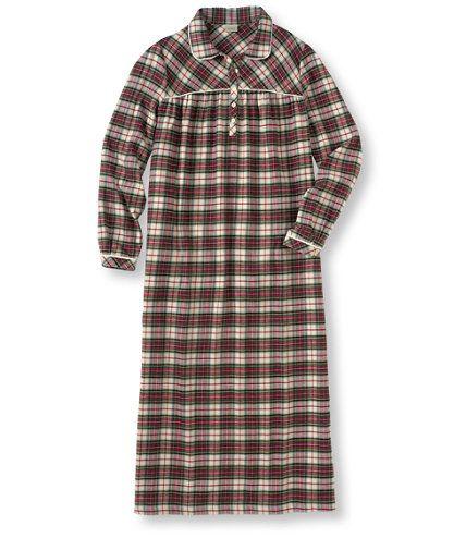 7e97b60835 Tartan Flannel Nightgown  Sleepwear
