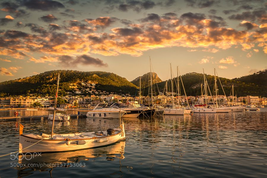 Popular on 500px : Golden hour at Port Andratx by dsrhenson