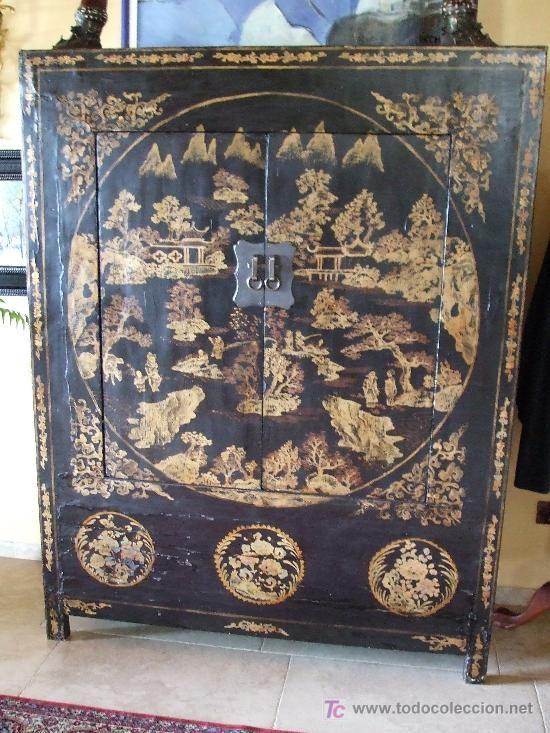 Antiguo armario chino, 2280 € | Vintage, Antigüedades, Antiquités ...