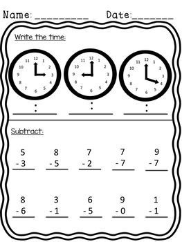 26 PAGES!! Common Core: NO PREP! BUNDLE Morning work