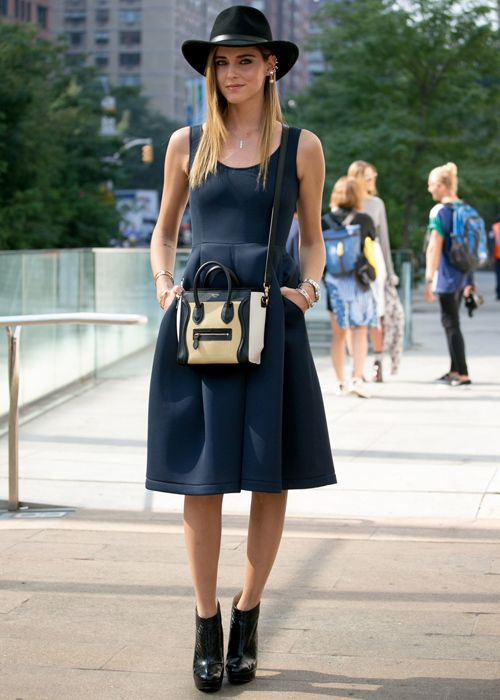 a3f30eaabc NYFW Spring 2014 street style  Chic dresses and an amazing sun hat ...