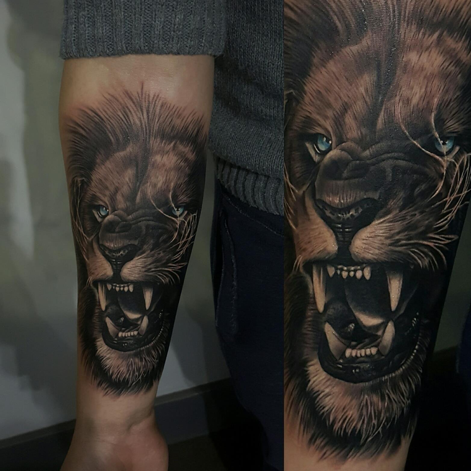 Lion Blue Eyes Tattoos Lion Tattoo Eye Tattoo