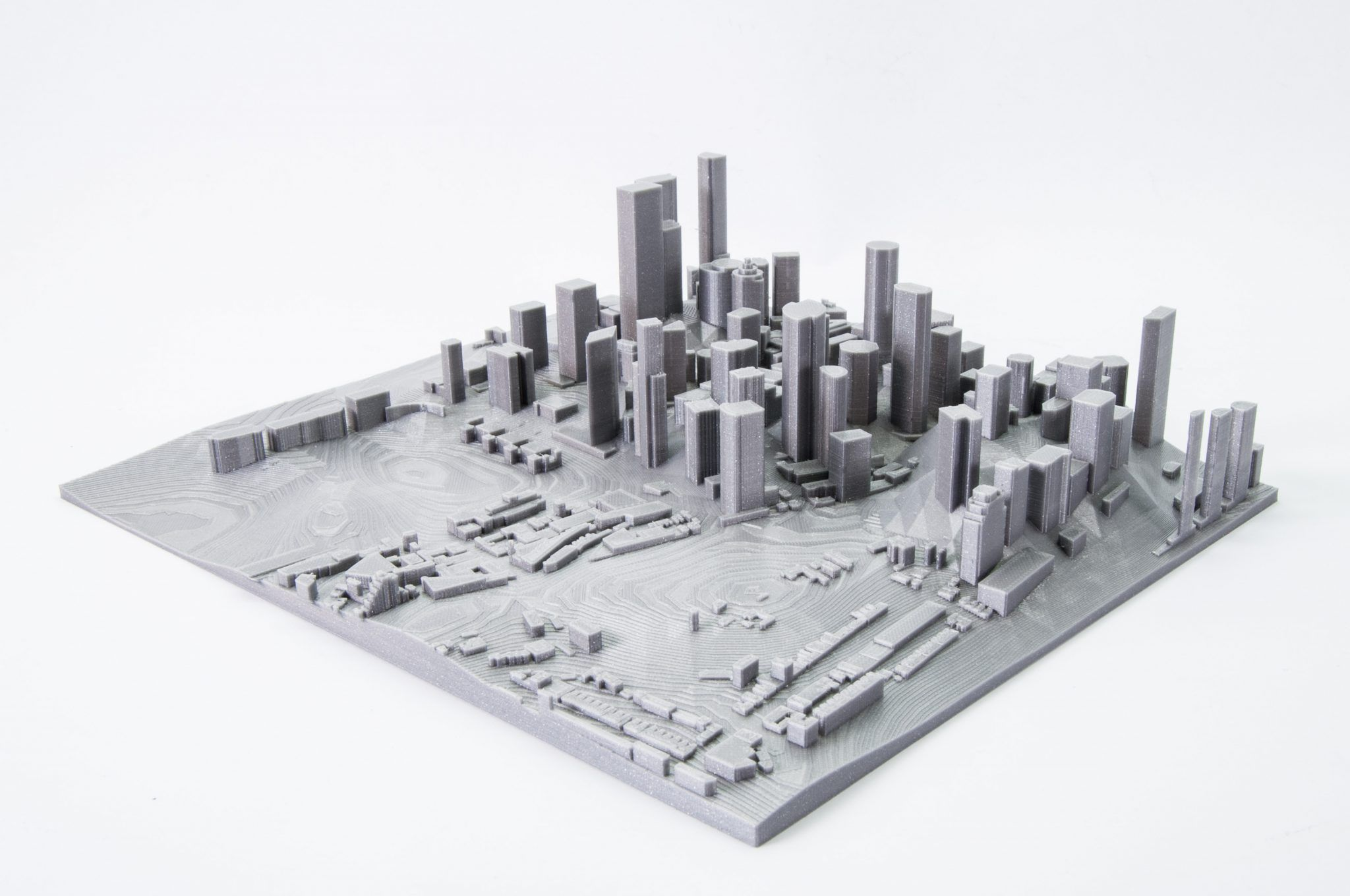How to print maps, terrains and landscapes on a 3D printer