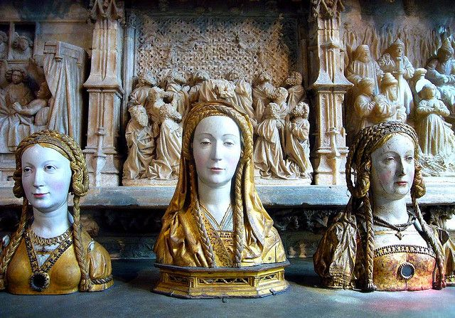 Trio of reliquary busts (Virgin Companions of Saint Ursula) by ggnyc, via Flickr