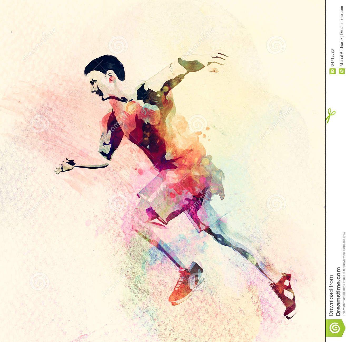 Znalezione obrazy dla zapytania sport watercolor